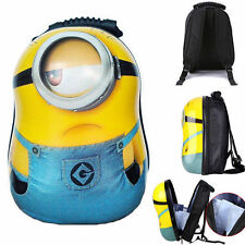 Despicable Me Minions Figure Kevin Backpack Shoulder School Bag Kids Gift WY