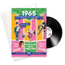 1965 51st Birthday | Anniversary Gift -1965 4-In-1 Card,Book,CD and Download