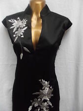 Oriental Black Silver Long Chinese dress 18