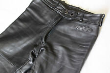 Ladies Hein Gericke Genuine Thick Leather Motorcycle Trousers sz 32  - W26 L34