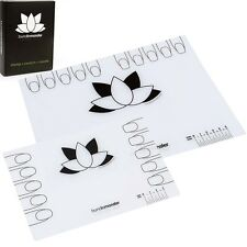 BMC 2pk Silicone Nail Art Decal Maker Workspace Sheet - Lotus Mat: Go and Mini