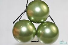 3 Pcs 16mm Lustrous~GREEN SOUTH SEA SHELL PEARL Large Round Beads Pendant G0667