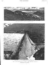 India. Engineering.Periyar Project.Dam Building.Lake.The Graphic Magazine 1895