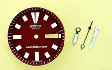 NEW SEIKO RED DIAL HANDS MINUTE TRACK SET FOR SEIKO 6309 7290 WATCH NR-102