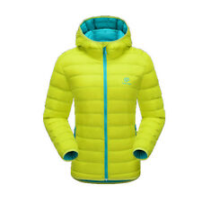 Fashion Women Hoodie Water Resistant Duck Down Coat Hiking Winter Puffer Jacket