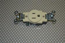 LOT OF 5 Leviton Ivory Industrial Single Outlet ReceptacleS 15A 5261-I