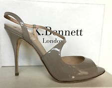 NEW was £195 LK BENNETT EU42: UK 8to9:  PALMA in CLAY (TAUPE/NUDE) PATENT LTHR