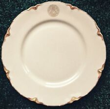 "8-7/8"" MICHIGAN STATE SEAL PLATE, WARWICK CHINA, GOLD BORDER, RESTAURANT WARE"