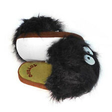 My Neighbor Totoro Black Totoro Slippers with Bristled Hair Dust-tight Slippers