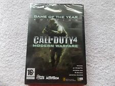 CALL OF DUTY 4 MODERN WARFARE GOTY PC-DVD NEW SEALED FAST POST ( FPS shooter )