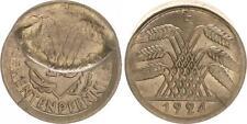 Falla acuñación: 10 peniques 1924 a parcialmente por incus mitprägung 2. moneda vz