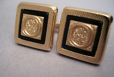 SET OF COLLECTABLE VINTAGE CUFFLINKS GOLD NEW OLD STOCK WITH INITIAL  O