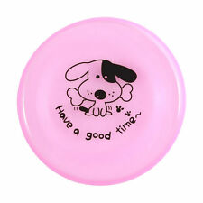 """8"""" Pink Dog Pet Frisbee Trainning Puppy Flying Disc Frisby Toy Plastic Fetch"""