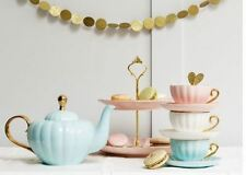 Bombay Duck Belle Teapot Duck Egg with Gold