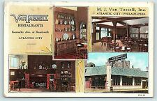 Postcard NJ Atlantic City Van Tassell Restaurants Multiview B14