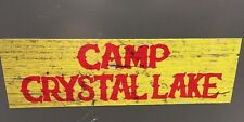 Camp Crystal Lake Bumper Sticker Jason Voorhees Friday the 13th Decal Sign NEW