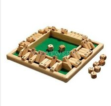 Hevea Wood Shut The Box For 1-4 Persons Board Game Set Number Drinking Games GTS