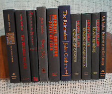lot 10 old books BLACK red blue decorative display set library shelf decor