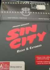 Sin City  - Recut And Extended (DVD, 2006, 2-Disc Set) NEW SEALED BOX WITH COMIC