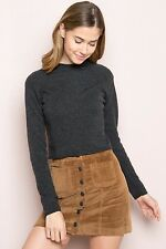 Last one!  Brandy Melville brown button-up  Nanna Corduroy Skirt NWT sz S/M