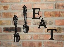 Kitchen Decor, Shabby, Chic, Gift Ideas, Wall Decor, Cast Iron, Fork and Spoon