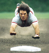 PETE ROSE CINCINNATI REDS MLB BASEBALL 8X10 PHOTO DIVE