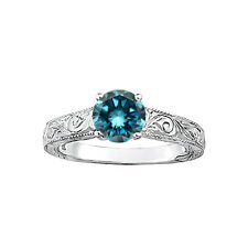 0.50 Carat Fancy Blue Diamond Solitaire Wedding Bridal Ring 14K WG ASAAR Deal