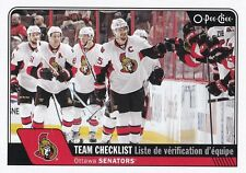 OTTAWA SENATORS 2016-17 16-17 OPC O-PEE-CHEE TEAM CHECKLIST SP #636 !