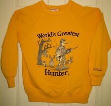 WORLD'S GREATEST HUNTER Crewneck L VTG 1985 S Dakota D Meyer SUPER RARE HTF OOP