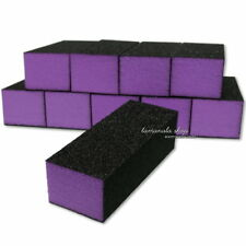 10 Pcs PURPLE Buffer Buffing SANDING BLOCK FILES GRIT Nail Art Salon Tools New