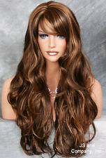 LONG Flirty Wavy Layered Brown Strawberry blonde mix HSJO 4/27