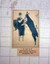 1927 Prize Photo Award To Miss Florena Burgoyne, Springfield Oregon