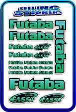 FUTABA SERVO RADIO RX TX 2.4G FLIGHT REMOTE CONTROL STICKERS FASST BLUE GREEN B