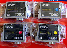 Set 4 Genuine Epson 60 Ink T0601-T0604 for C68,88 CX3800 4200 4800 5800F 7800