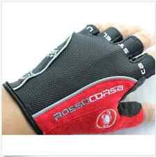 Hot Sale Castelli Rosso Corsa HALF FINGER Gloves Cycling Bicycle Bike Gloves ZYC