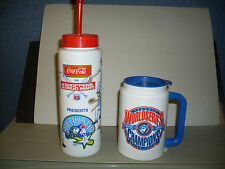 TORONTO BLUE JAYS SHOPPERS DRUG MART WATER BOTTLE 1991 & 1992-93 JAYS TRAVEL MUG