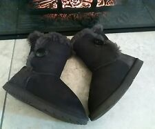 Ugg Australia Brown Bailey Button Boots Size UK 3