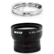 Albinar 37mm Wide Angle Lens,MCUV Filter for Sony HDR CX160 CX130 XR160, NEW USA