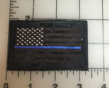 "Blue Stripe U.S Flag Patch KRYPTEK Typhon Background, Hook and Loop Back 4"" X 2"""