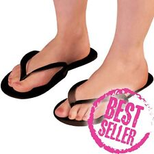 Disposable Black Flip Flops Pedicure,Tanning,Spa,Beauty pack of 12