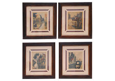 A set of four prints signed by artist Julian Celos,Pre-1953 in rustic Frames