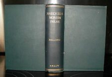 Haeckel's Monism False; an Examination... Frank Ballard, c1905 HB