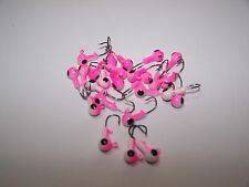 50 1/16oz Hook #6 New Painted Round Jig Heads Large Eye Crappie Bass Walleye