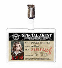 Agent Peggy Carter Marvel ID Badge Card Cosplay Prop Costume Halloween