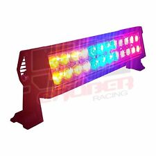 """Red Blue Amber 12"""" LED Bar w/Remote Emergency Response Vehicles Snow Plow Dunes"""