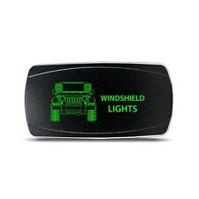 Rocker Switch Jeep JK Windshield Lights Symbol - Horizontal - Green LED