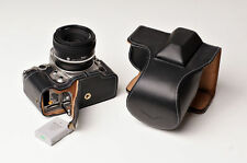 Genuine real Leather Full Camera Case bag cover for Nikon DF 50mm lens Black