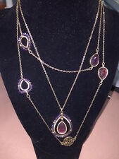 Brand New Premier Jewelry Designs Iris necklace. Gold. Purple. Shimmer