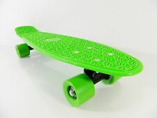 "Kids 22"" x 6"" Green Plastic Board Mini Cruiser Skateboard (For Age 4-12)"