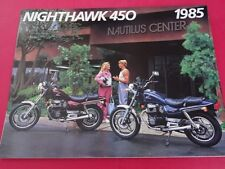 1985 Honda CB450 SC - Nighthawk Motorcycle Sales Brochure - Literature